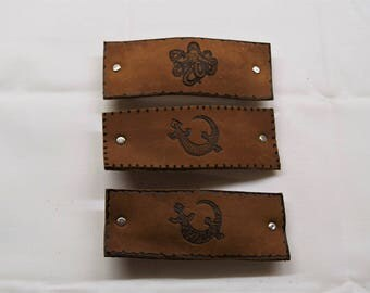 Leather Barrettes