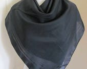 "Jacqmar // Solid Black Ladies Soft Scarf 29"" Square // Affordable Scarves!!"