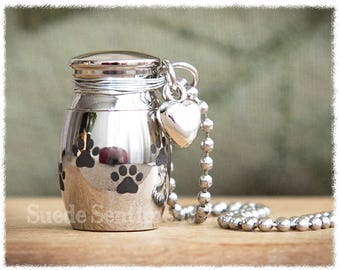Pet Urn Necklace • Pet Cremation Jewelry • Dog Urn Jewelry • Loss Of Pet • Urn Pendant • Cat Remembrance