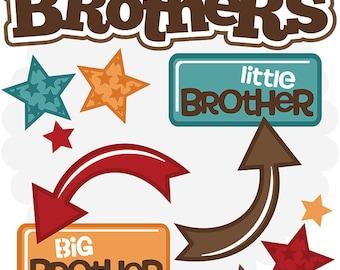 Scrapbook Die cut, Scrapbooking Die Cuts, Brothers scrapbook die cuts, Brothers Scrapbook embellishment, die cuts, paper crafts,  brothers