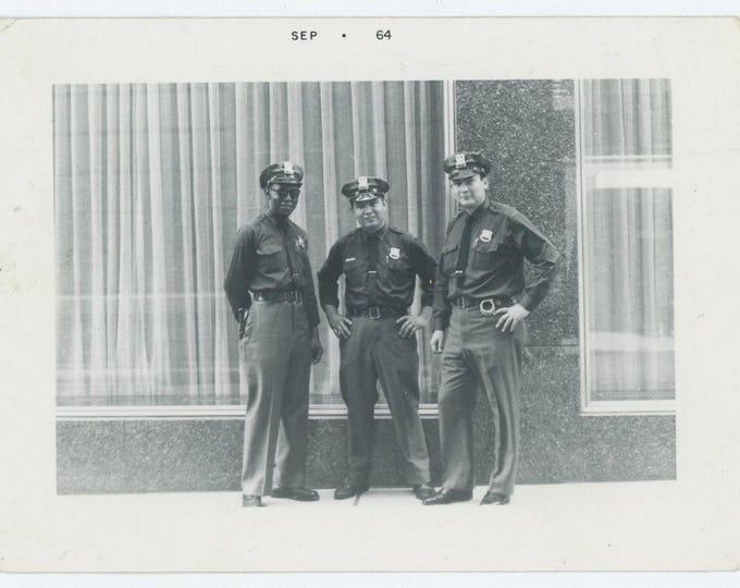 Vintage Snapshot Photo: Cops, 1964 (71544)