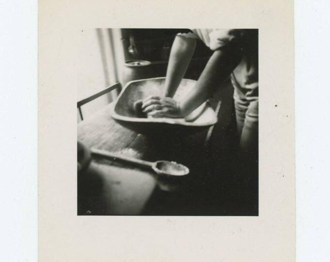 Vintage Snapshot Photo: Kneading (78603)