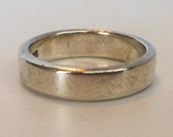 Vintage Sterling Wedding Band     Size 9 3/4     5MM