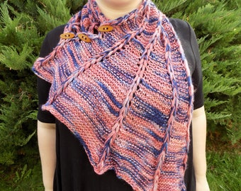 Crimson and Denim Dragon Wing Cowl