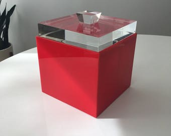 Albrizzi Ice Bucket - Lucite - Modern Ice Bucket