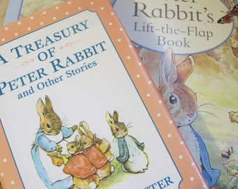 PETER RABBIT CLASSIC Children's Book: A Treasury of Peter Rabbit and Other Stories by Beatrix Potter, 1995 Derrydale Hardcover/& PopUp Book