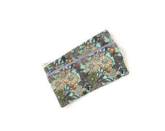 Floral pencil case, school supplies, zipper pouch, floral pencil pouch, sunflower pencil case, little pencil case - Sunflowers