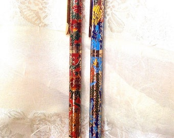Vintage Cloisonne Enamel Pens Estate Collection From NorthCoastCottage Handmade Jewelry