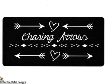 Arrow Decor, Metal Arrows, Metal Sign, Chasing Arrows, Home Decor, Home and Living, Bedroom Decor, Patio Decor, Arrow and Heart, Rilla Bee
