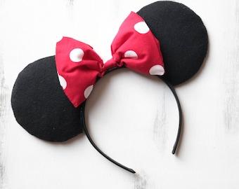 Original Plain Minnie Mouse Ears
