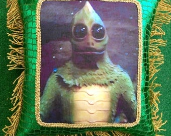 Kitsch Sid and Marty Krofft Land of The Lost Sleestak Pillow
