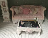 Shabby Chic dollhouse coffee table_ Free Shipping to the US