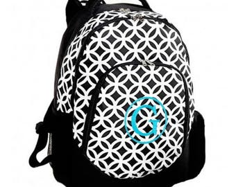 Embroidered Backpack - Sadie Black - Includes Embroidery Personalization - Black Backpack