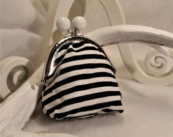 vintage striped purse