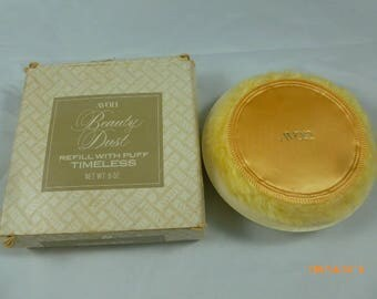 Vintage Avon Beauty Dust Refill with Puff Timeless 6oz