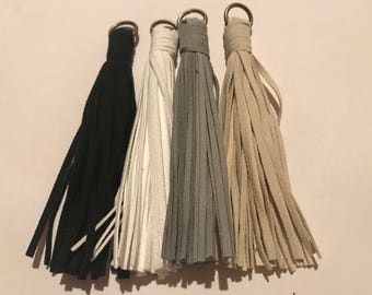 100mm tassel, cord, faux leather tassel , 1pc