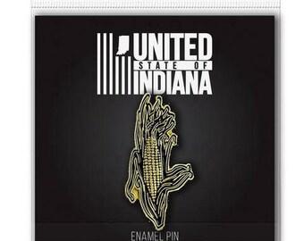 Indiana Sweet Corn Enamel Pin