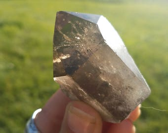 Large Smoky Quartz Crystal Point- reiki, pagan, healing, chakra, aura cleansing, protection stone