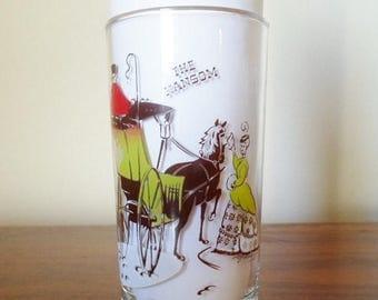 "ON SALE Vintage Gay Nineties  12oz. Bar Glass Barware   ""The Hansom""  Mid Century Modern"