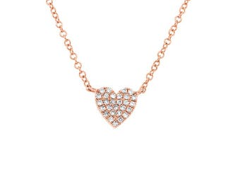14k Diamond Pave Heart Pendant 165-245