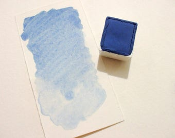 Azurite Optima  - Handmade Watercolor Paint - Gemstone Paint - Artist Gift - Art Paint - Handcrafted Professional Watercolour