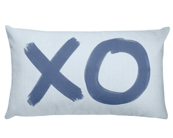 XO Pillow for Baby Boy, 12x20