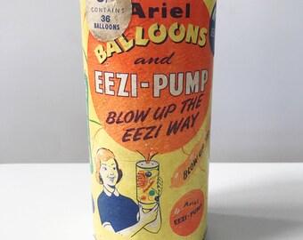 Vintage 1950s Ariel Eezi-Pump Balloon Pump, Retro Advertising