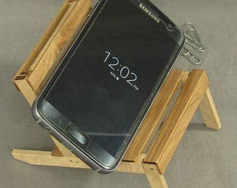 iPhone stand, Android stand, cell phone holder, pallet chair, popsicle stick chair, desk accessories, business card holder, office decor