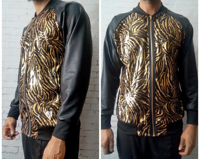SEQUIN Bomber Jacket Inspired by Balmin,Gucci ,Versace, Empire