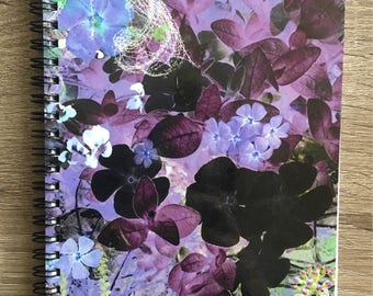 "Notebook with Original Art ""April Collage"""