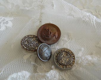 Rare Antique Metal MILITARY Buttons