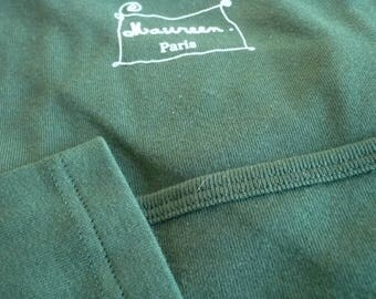 Forest green t-shirt plain neckline dancer 100% cotton