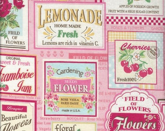 Fruit Labels (Color B) from the 30's Collection by Atsuko Matsuyama for Yuwa of Japan