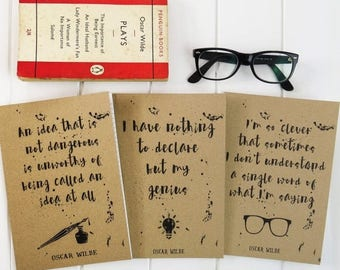 SALE Oscar Wilde Quote A5 Notebook - Kraft Notebook - Stationery for Book Lovers - Teacher Gift - Book Lover Journal