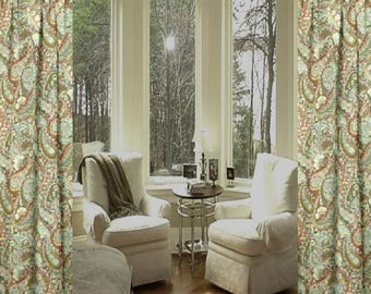 sale robert allen zen paisley curtains custom made drapes from small window curtains through extra long