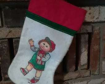Vintage Cabbage Patch kids Christmas Stocking