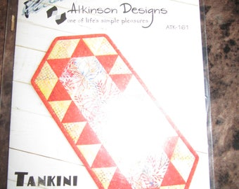 Tankini Table Runner Pattern in Three Sizes