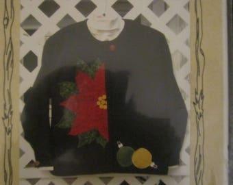 Poinsettia Sweatshirt Cardigan