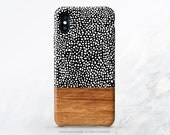 iPhone X Case iPhone 8 Case iPhone 7 Case Wood Polka Dots iPhone 7 Plus iPhone 6s Case iPhone SE Case Galaxy S7 Case Galaxy S8 Case I70