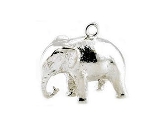 Sterling Silver Indian Elephant Charm For Bracelets