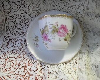 Vintage KPM teacup and saucer
