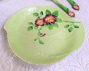 "Leaf Shaped  Serving Plate ""Wild Rose"" Carlton Ware, Australian Design, J"
