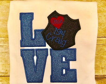 LOVE Personalized Police Badge Shirt