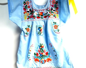 Cinco de mayo baby Mexican clothes blue Mexican dress