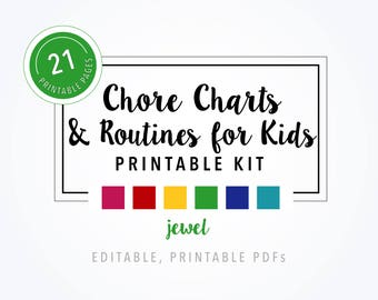 Printable Chore Charts & Routines for Kids - Jewel