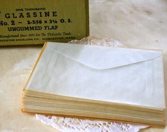 25 Vintage Glassine Envelopes,