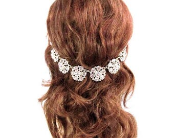 SALE SALE Gold Crystal Hair Jewelry, Bridal Hair Accessory, Gold Wedding Hair Accessory, Bridal Crystal Headpiece,
