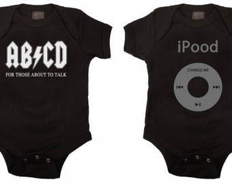 Funny Baby Bodysuit Gift Set Black