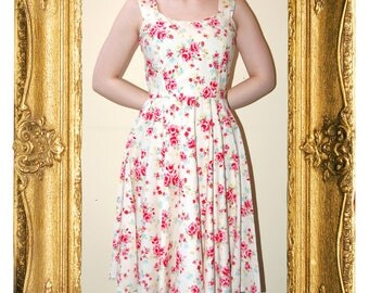 SALE!!! Pink & White Floral Alice Dress