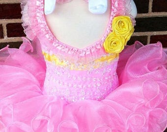 Girls Natural Pageant Dress